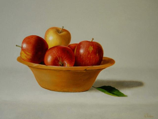Appels in schaal