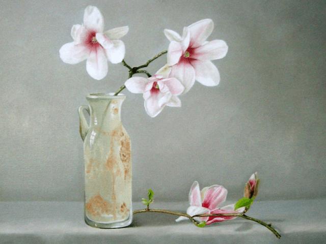 Magnolia en romeins flesje
