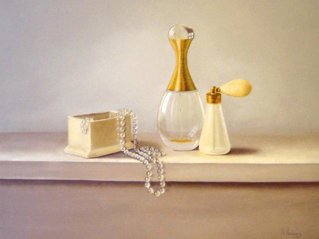 Parfumflesjes en parels