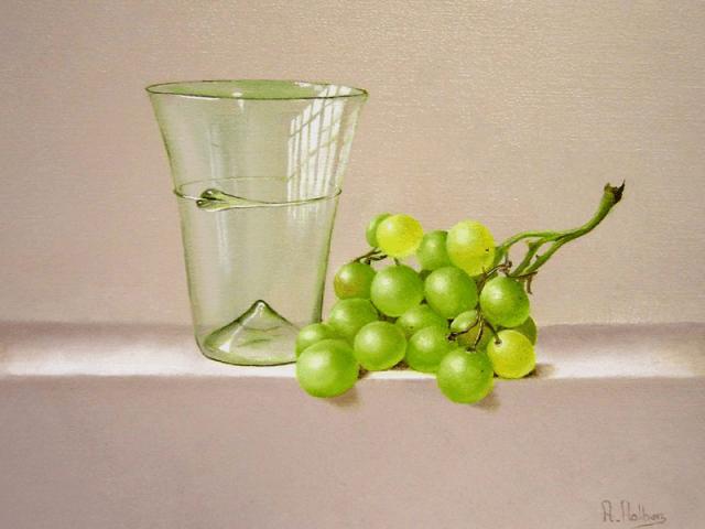 Valkhof beker en druiven
