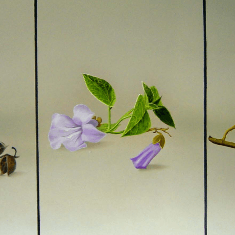 Drieluik Paulownia 3 jaargetijdenaneel