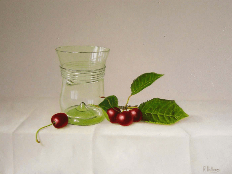 Kersen en renaissance glas