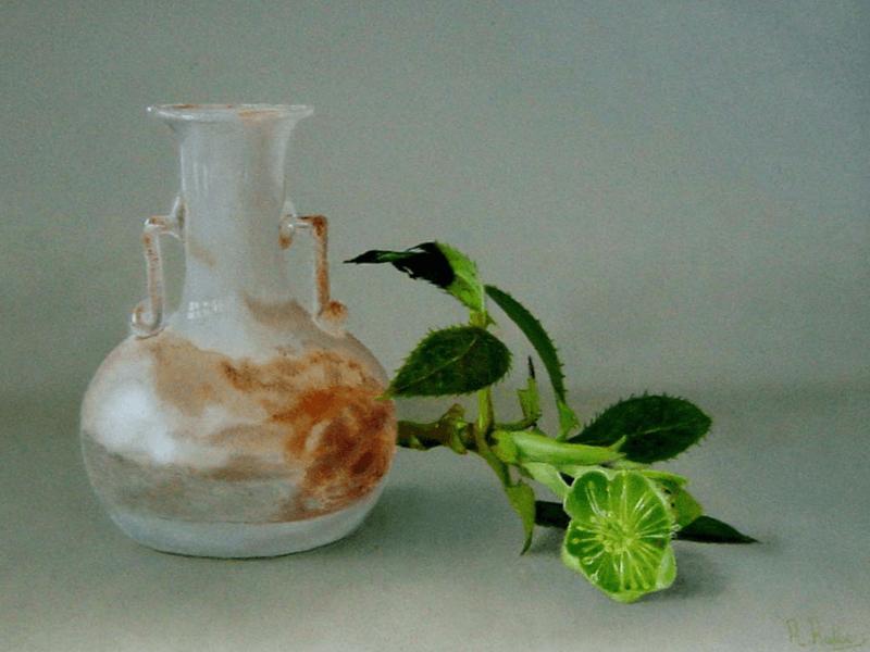 Romeins glas en helleborus